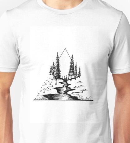 geometric landscapes Unisex T-Shirt