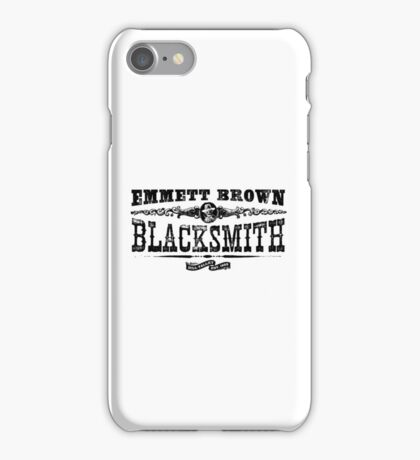 Emmett Brown Blacksmith - Back to the Future Inspired Design iPhone Case/Skin