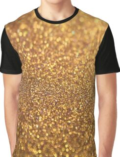 Golden Glitter Luxury Diamond Graphic T-Shirt