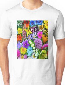 FLOWER GARDEN; Modern Print Unisex T-Shirt