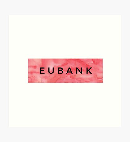 EUBANK [Red] (Clothes, Phone Cases More) Art Print