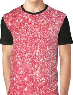 Red Glitter Glamour Graphic T-Shirt