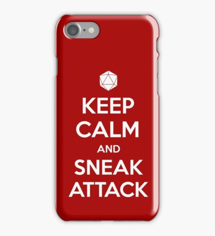 Keep calm and sneak attack iPhone Case/Skin