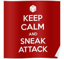 Keep calm and sneak attack Poster