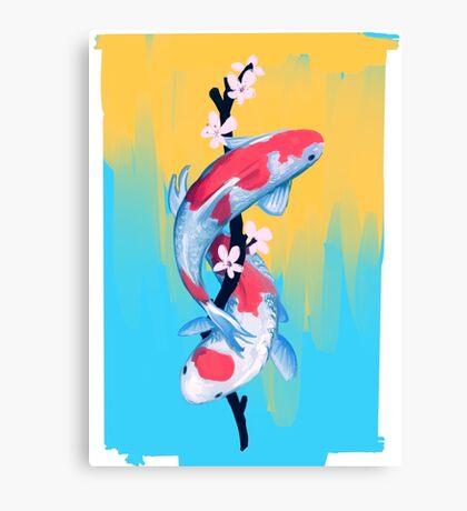 Koi Blossoms Canvas Print
