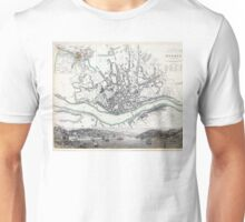 Map of Oporto - Porto - 1833 Unisex T-Shirt