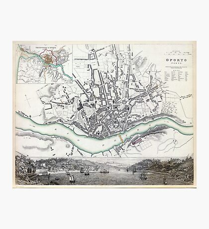 Map of Oporto - Porto - 1833 Photographic Print