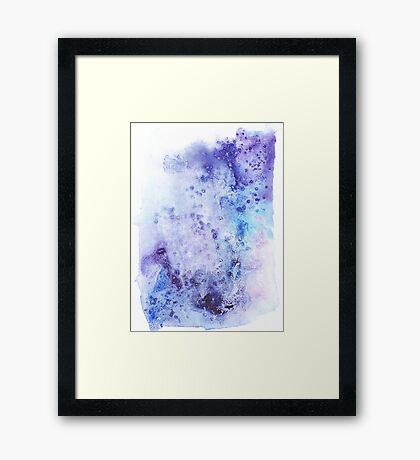Aqua boom Framed Print