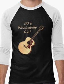 60's Rockabilly Cat  Men's Baseball ¾ T-Shirt