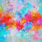 Colorful and Vivid Cloudy Abstract Painting by Deniz Akerman