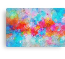 Colorful and Vivid Cloudy Abstract Painting Canvas Print