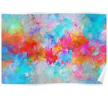 Colorful and Vivid Cloudy Abstract Painting Poster