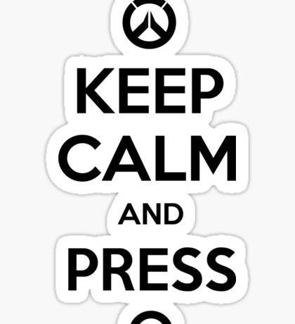 Keep calm and press Q Sticker