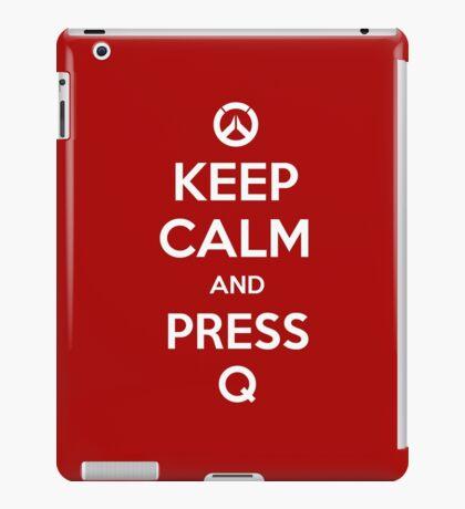 Keep calm and press Q iPad Case/Skin