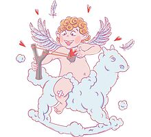 Valentine's day. Funny Cupid  Photographic Print