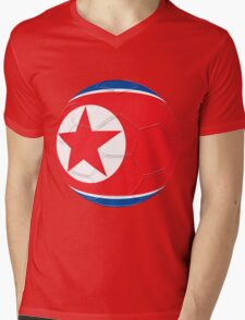 North Korea Mens V-Neck T-Shirt