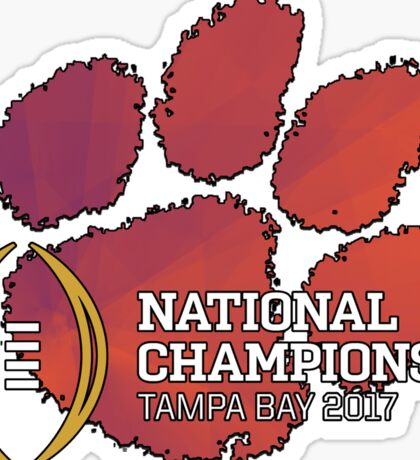 Clemson Tigers 2017 National Champions NCAAF Sticker