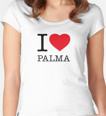 I ♥ PALMA  Women's Fitted Scoop T-Shirt
