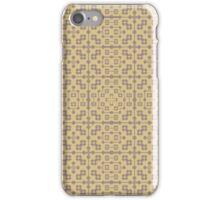 XOXO (cocoa/honey) - fractal motif foulard print iPhone Case/Skin