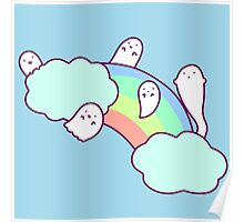 Rainbow Cloud Ghosts Poster