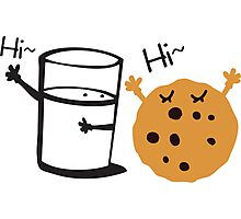 Hi Hi cookie and Milk Photographic Print