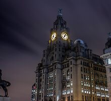 Liver Building and guard by Paul Madden