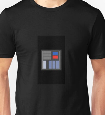 Darth Vader Chest Piece Minimalist   Unisex T-Shirt