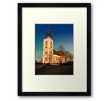 The village church of Sankt Peter am Wimberg III | architectural photography Framed Print