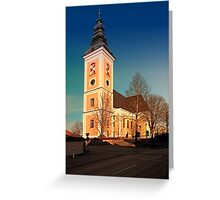 The village church of Sankt Peter am Wimberg III | architectural photography Greeting Card