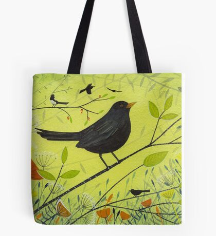 Spring Blackbird Tote Bag