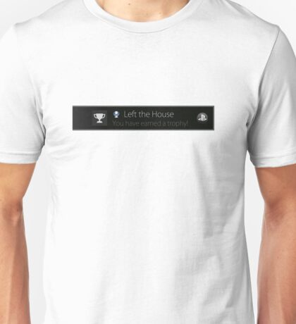 Playstation Trophy - Left the House Unisex T-Shirt