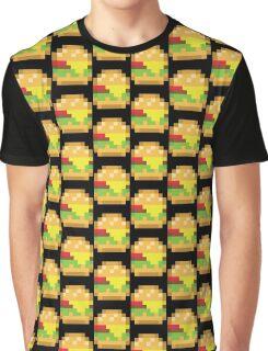 Pixel Burger Graphic T-Shirt