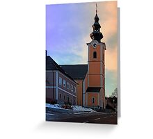The village church of Traberg I | architectural photography Greeting Card