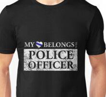 My Heart Belongs To A Police Officer T Shirt Unisex T-Shirt