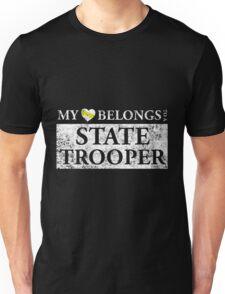 My Heart Belongs To A State Trooper T Shirt Unisex T-Shirt