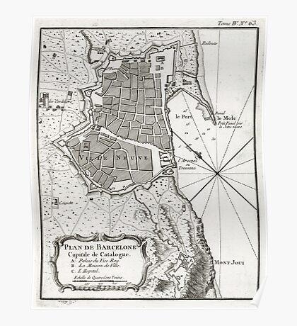 Plan of Barcelona - 1764 Poster