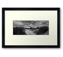 Grass House Framed Print
