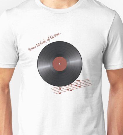 Musical retro plate. Vinyl disk Unisex T-Shirt