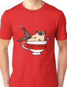 Fancy Legs Teacup Pug Unisex T-Shirt