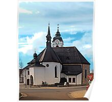 The village church of Vorderweissenbach I | architectural photography Poster