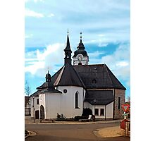 The village church of Vorderweissenbach I | architectural photography Photographic Print