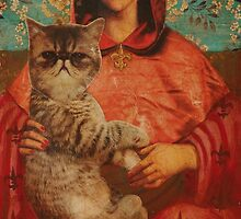 Madonna with Cat by Maria Evestus