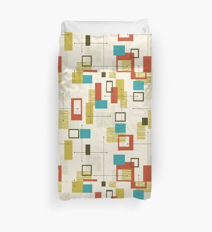 Retro, Mid Century Modern, Atomic,  Abstract Duvet Cover