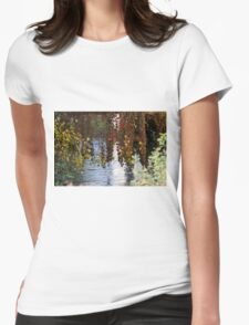 water reflection on river Womens T-Shirt