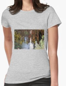 water reflection on river Womens Fitted T-Shirt