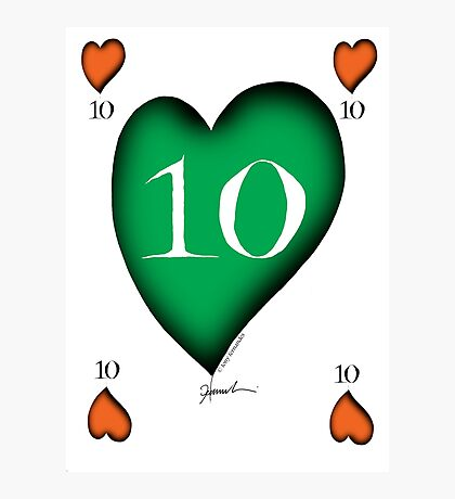 Lucky No.10 of Hearts by Tony Fernandes Photographic Print