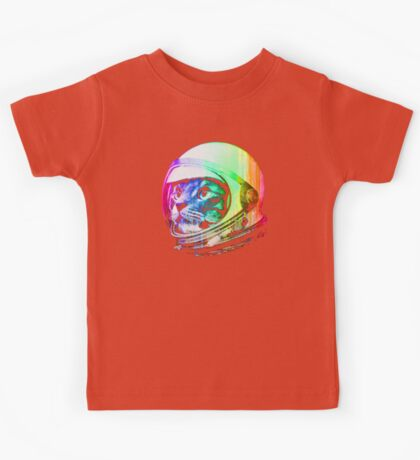 Astronaut Space Cat (digital rainbow version) Kids Tee