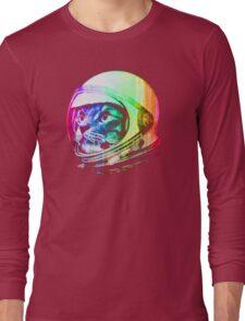 Astronaut Space Cat (digital rainbow version) Long Sleeve T-Shirt