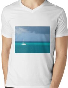 Catamaran in Antigua Mens V-Neck T-Shirt