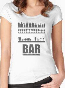 Bar Typography Cool Women's Fitted Scoop T-Shirt